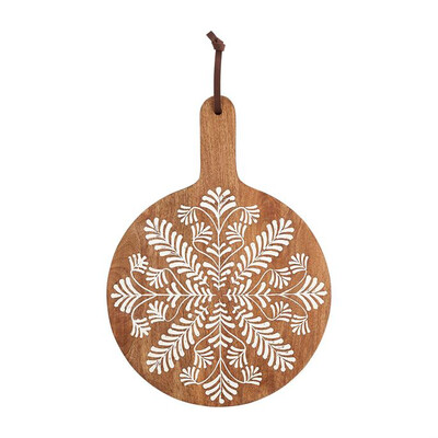 Charcuterie Board Carved Round