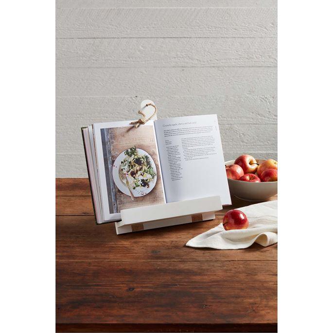 Cook Book Holder Horizontal White