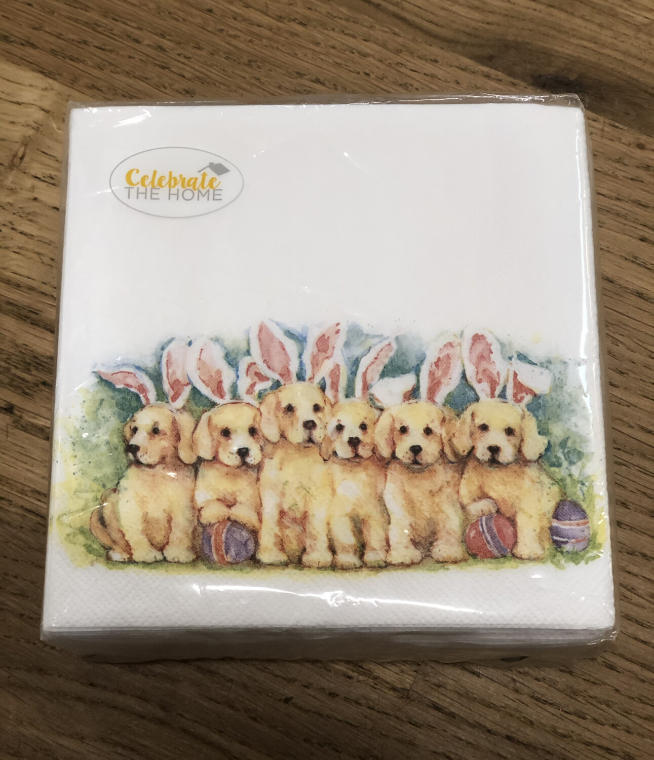 Napkin Easter Puppies