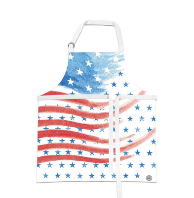 Apron Red White Blue