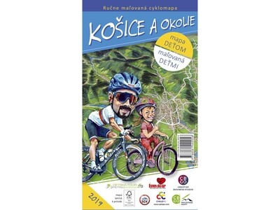 Maľovaná cyklomapa Košice a okolie deťom
