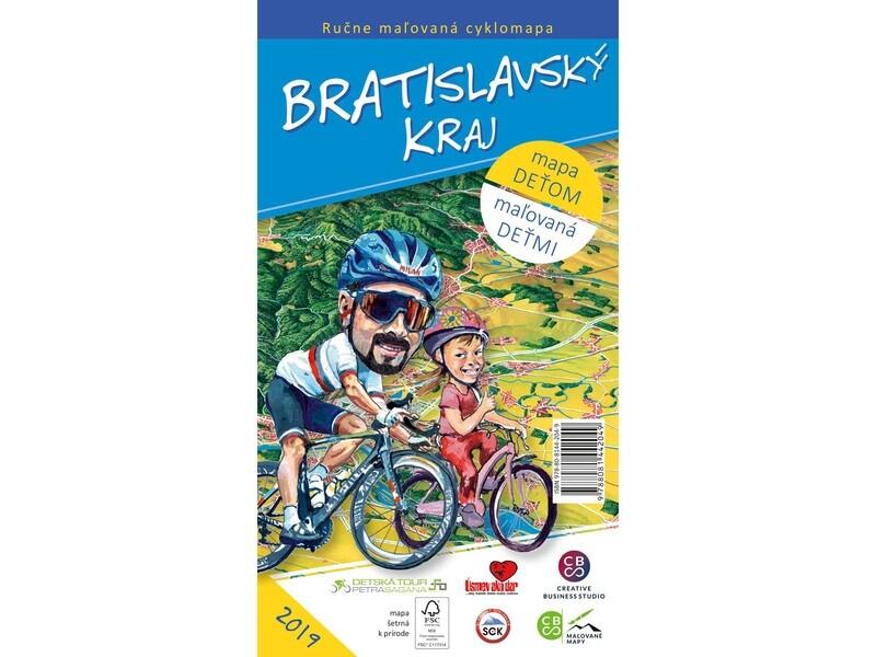 Maľovaná cyklomapa Bratislavský kraj deťom