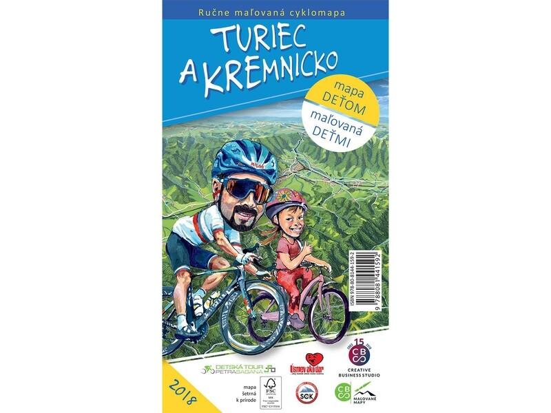 Maľovaná cyklomapa Turiec a Kremnicko deťom