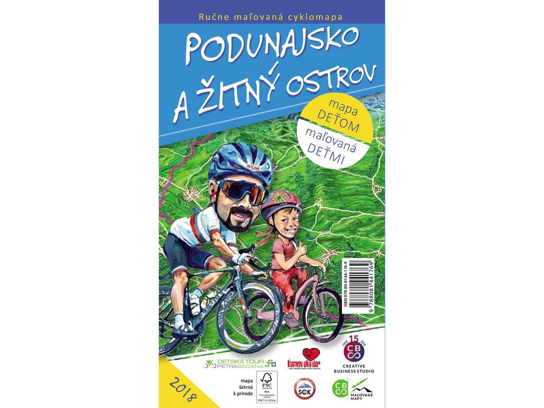 Maľovaná cyklomapa Podunajsko a Žitný ostrov deťom