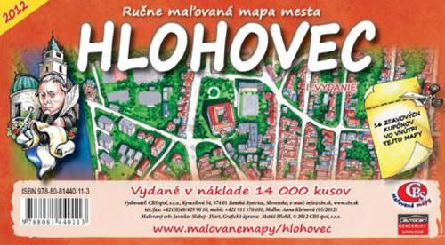 MAPA mesta Hlohovec I.vydanie