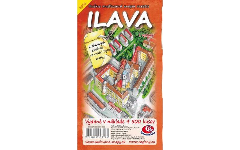 MAPA mesta Ilava I.vydanie
