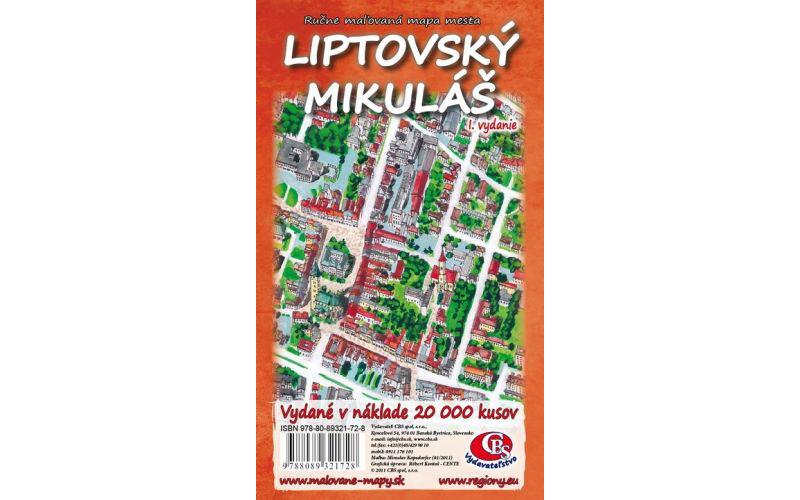 MAPA mesta Liptovský Mikuláš I.vydanie