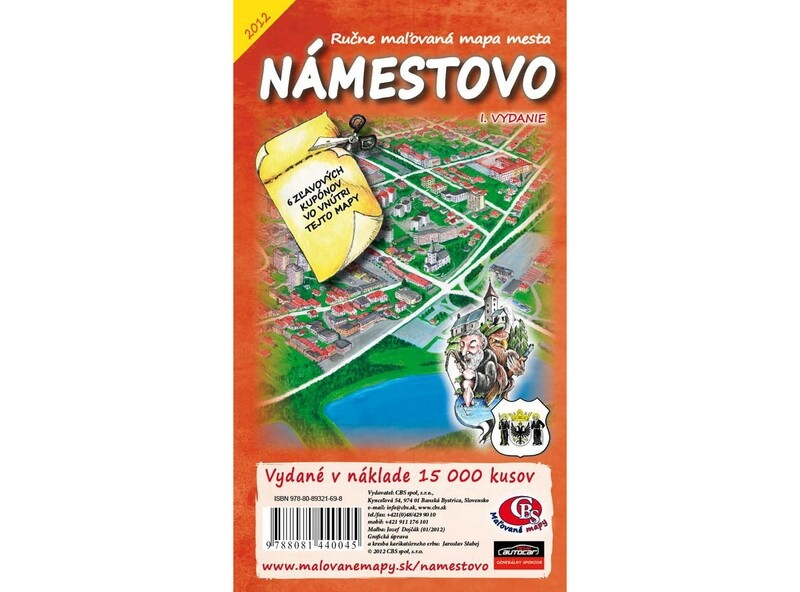 MAPA mesta Námestovo I.vydanie