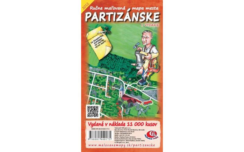 MAPA mesta Partizánske I.vydanie