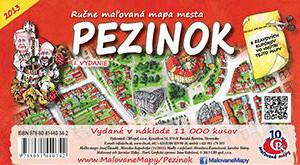 MAPA mesta Pezinok I.vydanie