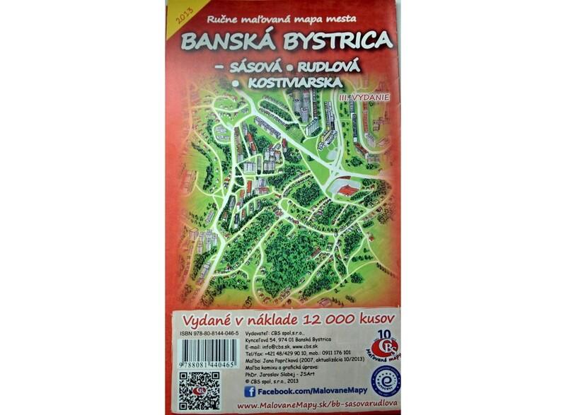 MAPA Banská Bystrica - Sásová, Rudlová, Kostiviarska