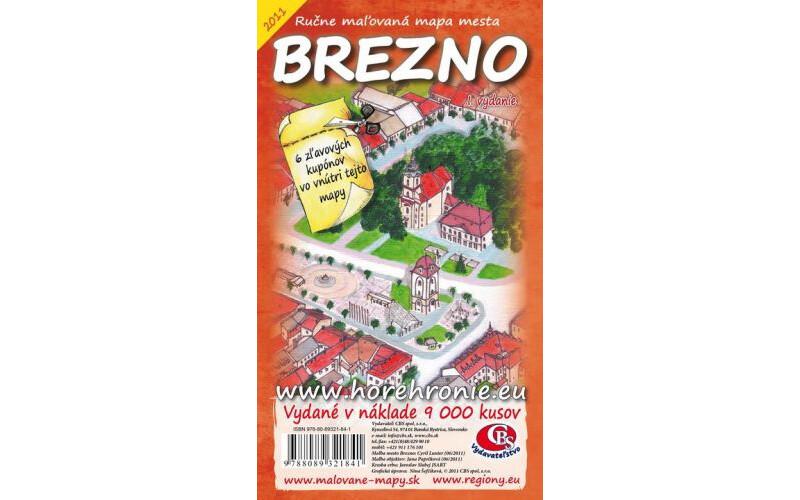 MAPA mesta Brezno I. vydanie