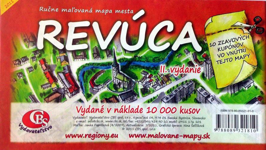 MAPA Revúca II. Vydanie