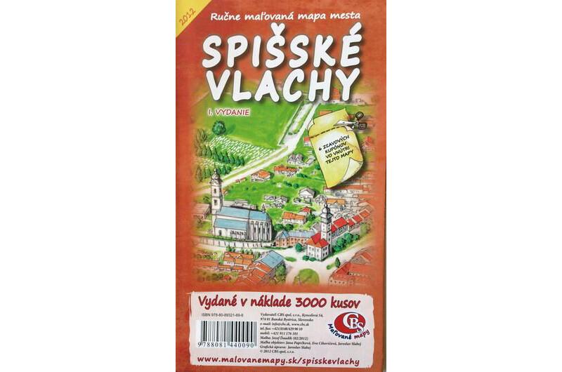 MAPA mesta Spišské Vlachy I. Vydanie
