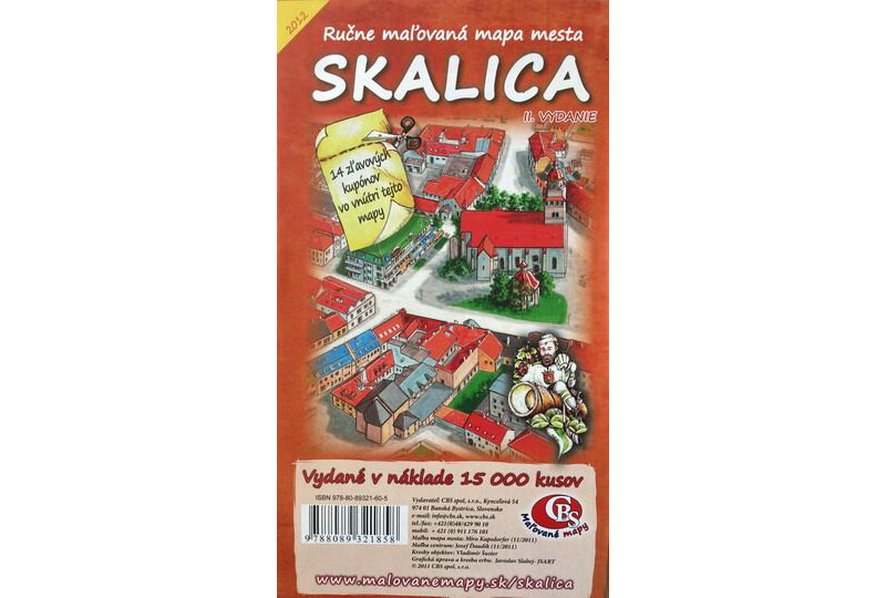 MAPA mesta Skalica II. Vydanie