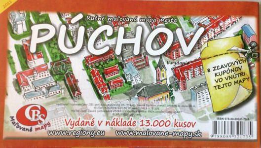 MAPA mesta Púchov II. Vydanie