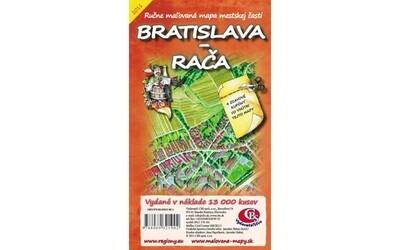 MAPA mesta Bratislava Rača I.vydanie