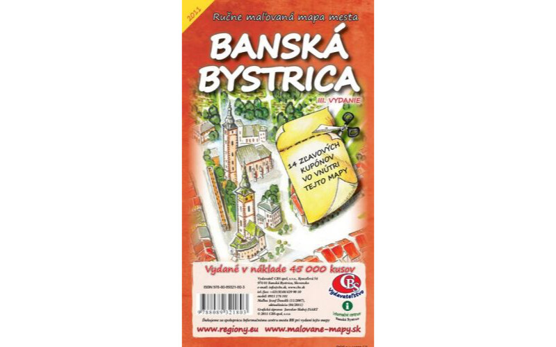 MAPA mesta Banská Bystrica-centrum IV.vydanie
