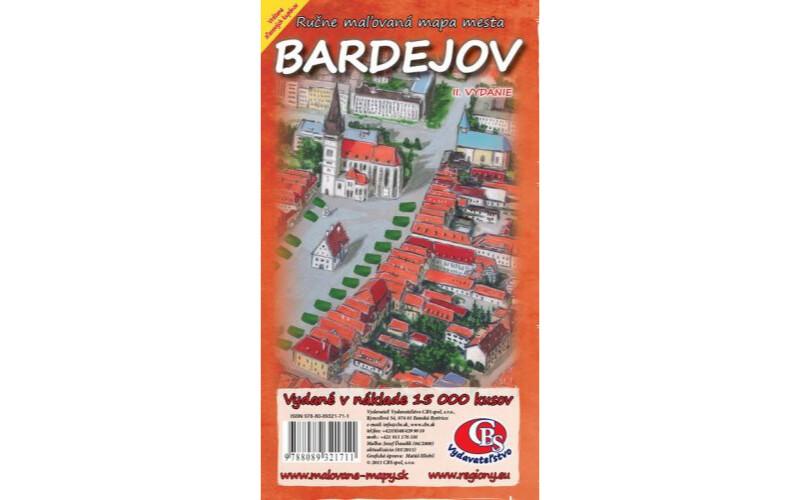 MAPA mesta Bardejov II.vydanie