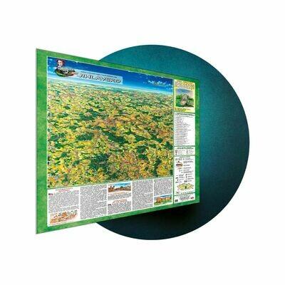 Laminovaná maľovaná/VKÚ mapa na plastovej tabuli