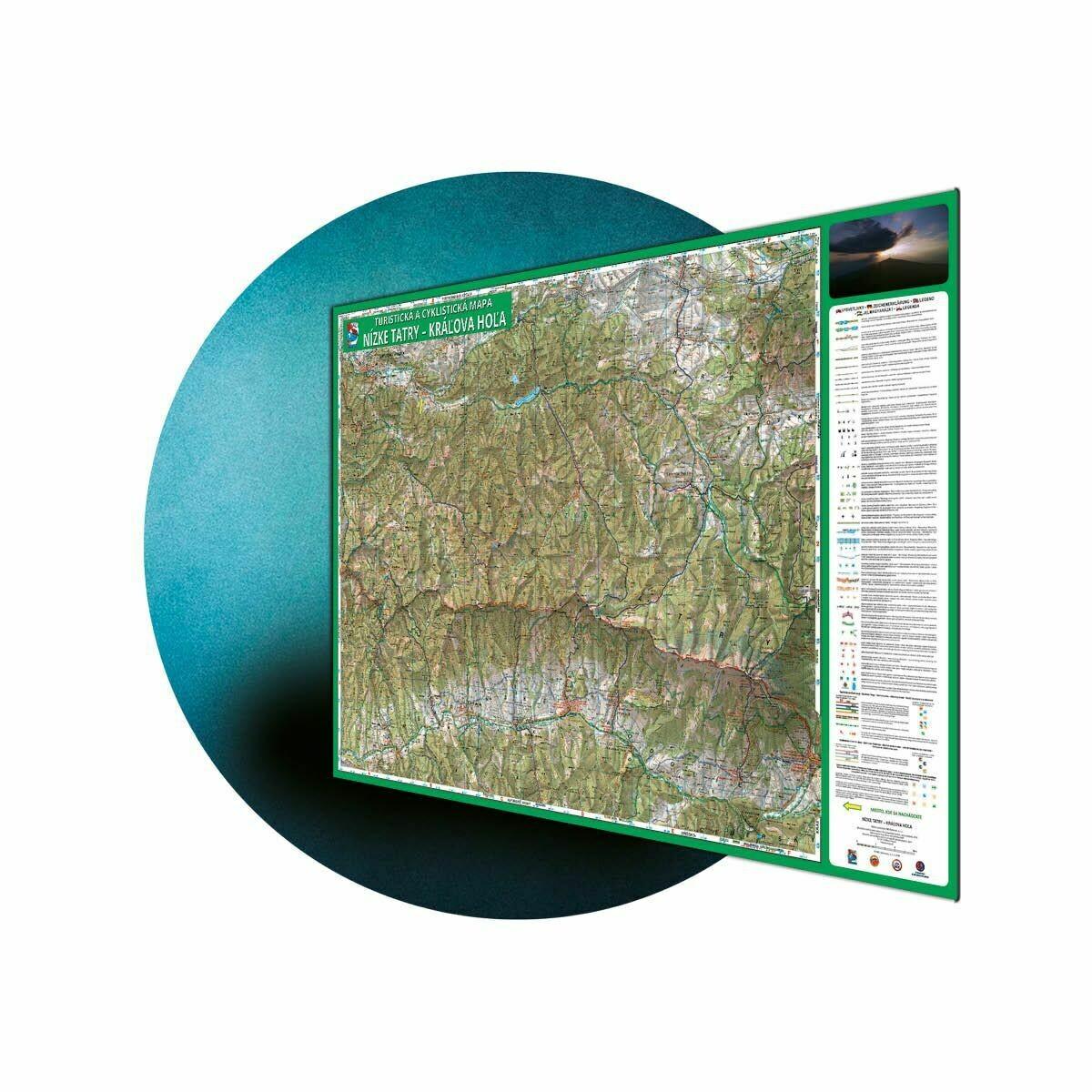 Laminovaná VKÚ/maľovaná mapana hliníkovej tabuli