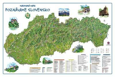 Maľovaná mapa - Spoznávame Slovensko