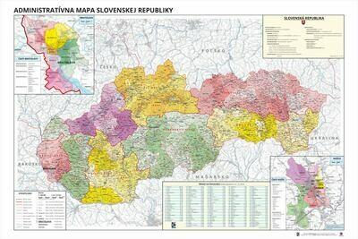 Všeobecná administratívna mapa Slovenska
