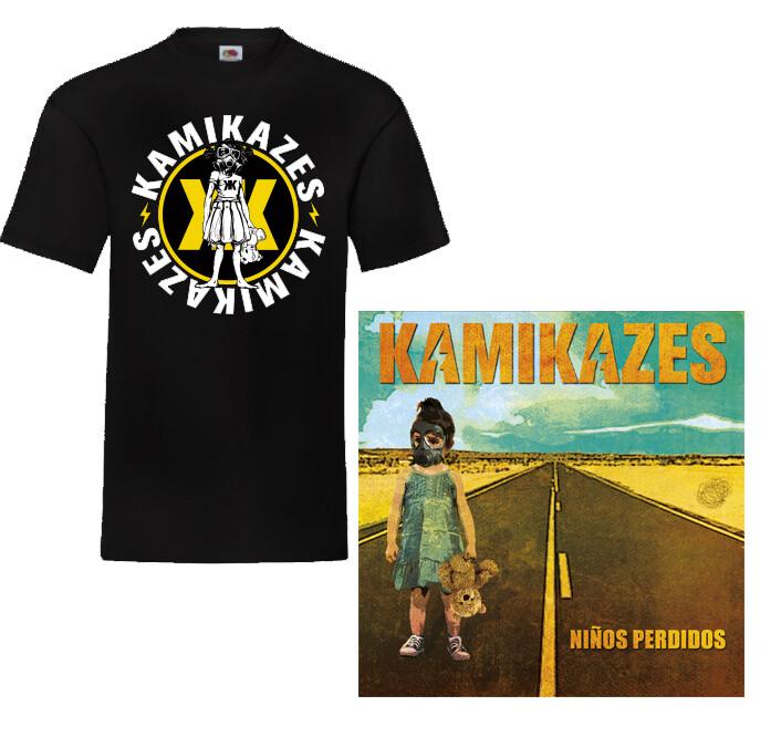 Pack disco y camiseta negra