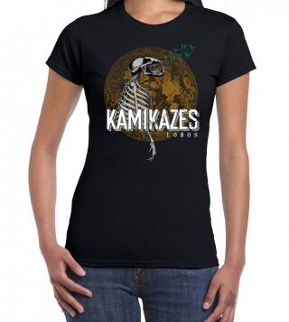 Camiseta negra chica LOBOS