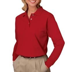 Women's Long Sleeve Pique Polo