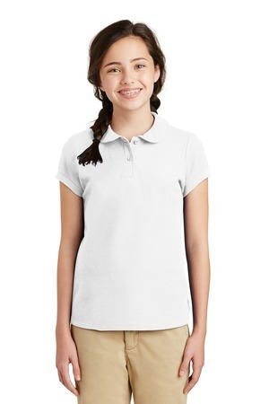 Port Authority® Girls Silk Touch™ Peter Pan Collar Polo