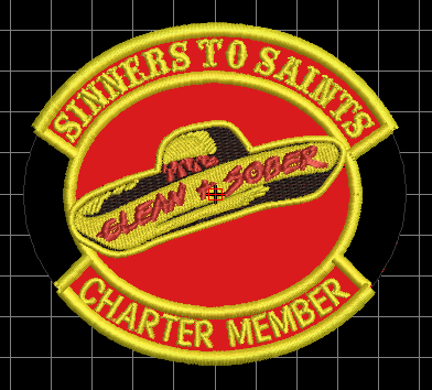 Sinners to Saints Charter Member Patch