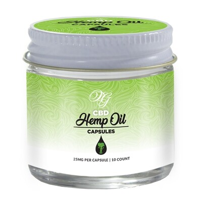 WS OG CBD Hemp Oil Capsules 10ct.