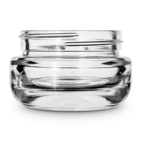 1 Ounce Round Base Glass Jar