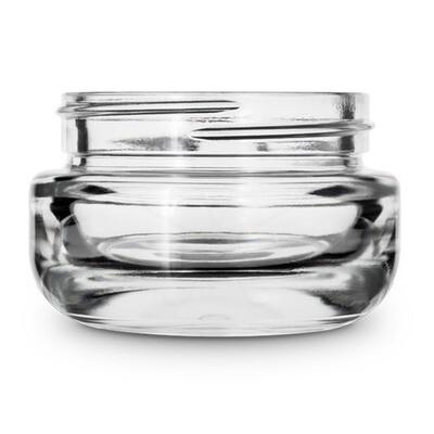 1 Ounce Round Base Glass Jar