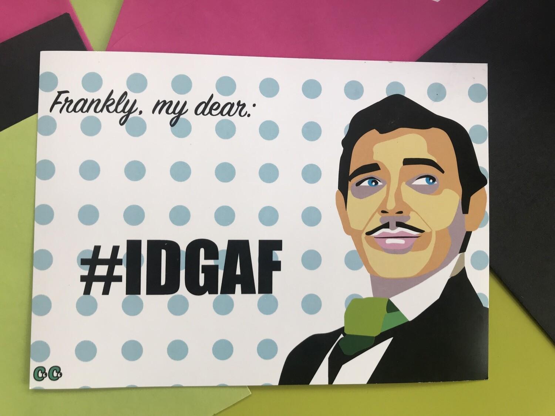 #IDGAF Stationary (Card + Envelope)