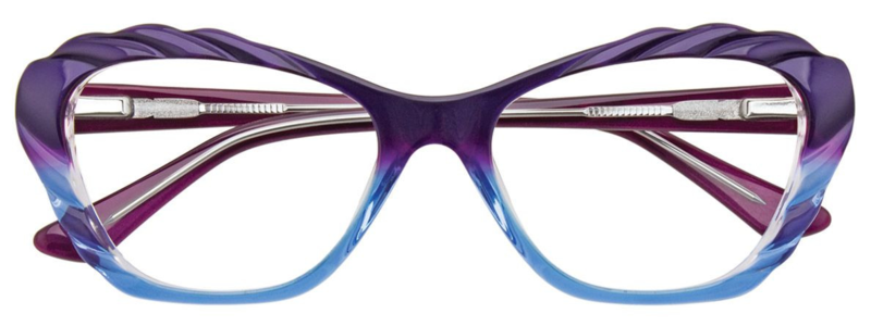 PARADOX COLLECTION Eyeglasses P5001 Violet & Light Blue & Crystal 52-17-135