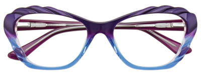 PARADOX COLLECTION Eyeglasses P5001 Violet & Light Blue & Crystal 52-17-135