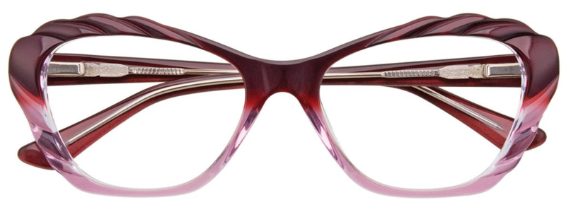 PARADOX COLLECTION Eyeglasses P5001 in Dark and Light Pink & Crystal 52-17-135