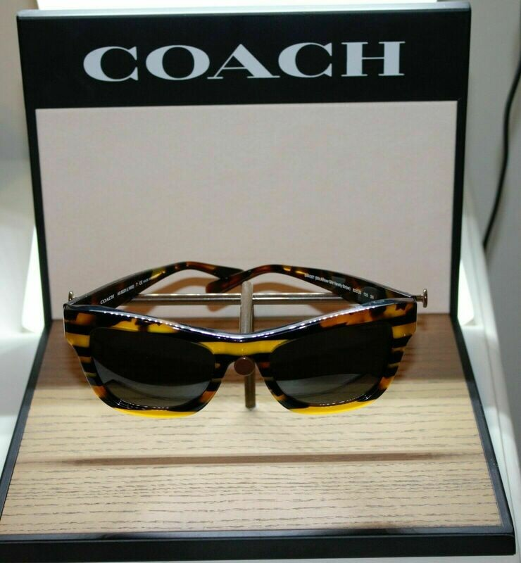 3 piece COACH Eyeglass Sunglass Display shelf Window signs
