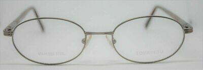 NEW Tourneau TO22 eyeglass frames in Sand 51-18-140 Made in Italy Stainless Ste