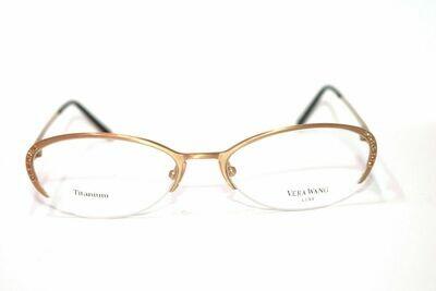 NEW VERA WANG Semi Rimless EPIPHANY II TITANIUM EYEGLASS FRAMES 52-17-140 Eye