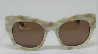 L.A.M.B. LA531 Gwen Stefani's Designer Sunglasses color: Bone Case Included