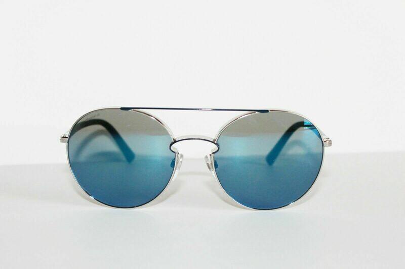 Valentino VA 2002 3006/55 Silver / Blue with Mirror Blue Sunglasses