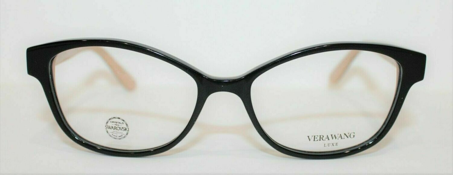 100% AUTHENTIC VERA WANG Mazzoli in Black/Tan color Swarovski Crystals 51-15-130