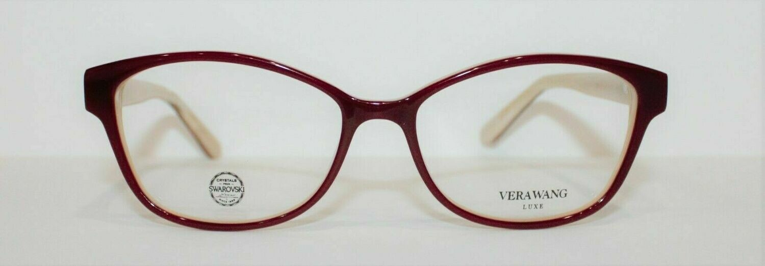 100% AUTHENTIC VERA WANG Mazzoli in Burgundy colors Swarovski Crystals