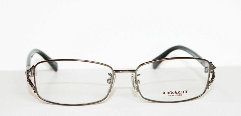 COACH 5073 eyeglass in Black Dark Silver 9017 54-16-135 NEW/AUTHENTIC