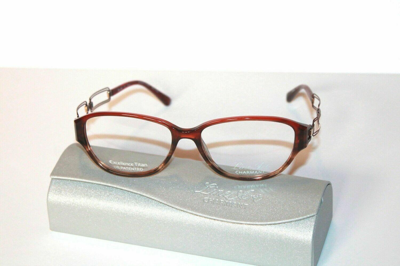 Charmant Line Art Women's Eyeglasses 2033 RE Red Optical Frame 53mm