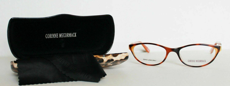 Corinne McCormack eyeglass frames Riverside Coral 52-17-135 RX-able