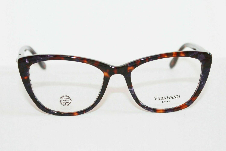 VERA WANG Eyeglasses DEA Purple Tortoise 54-17-140 Authentic and new